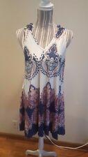 Groupon Leo Rosi Womens Sleeveless Paisley Halter Dress Size Medium NWT