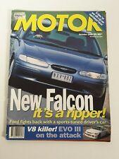 Motor October 1996 New Falcon Porsche Boxster Lancer GSR v EVO III RS + Poster
