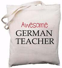 Awesome insegnante tedesco-Cotone Naturale Borsa a tracolla-regalo di scuola