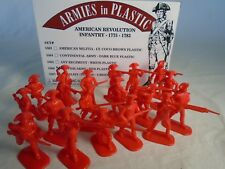 Armies in Plastic - Revolutionary War British Toy Soldiers (54MM) 20 in 10 poses