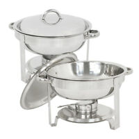 Lot 2~5 Quart Stainless Steel Round Chafing Dish Full Size Buffet Catering
