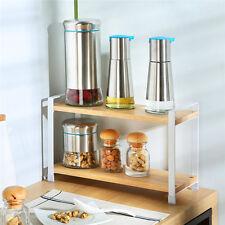 Solid Wooden Kitchen Shelf Organizer Stand Rack Vegetable Fruit Storage Holder