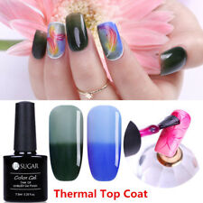 2pcs Nail Thermal Top Coat Color Changing UV Gel Polish Manicure DIY UR SUGAR