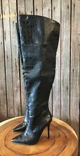 BEBE SEXY OVER-THE-KNEE BLACK HIGH HEELS BOOTS SIZE 5