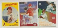 SHOHEI OHTANI 3 Rookie Lot- 2018 Topps Archives #50, Diamond Kings #73 & PP10
