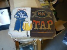 Antique Wood Pbr Pabst Blue Ribbon Adverising Beer Bar Sign Rare