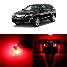 13 x Red LED Interior Lights Package Kit For Acura RDX 2013 - 2018 + Pry TOOL