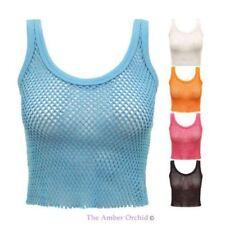 Maglie e camicie da donna senza maniche Crop top in cotone
