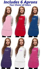 Personalized Kids Aprons with Embroidered Name or Monogram of Your Choice
