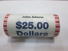 """2007-D John Adams Presidential """"Unopened"""" Dollar 25 Coin ROLL"""