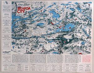 1940's NEVADA CITY, CALIFORNIA Fun Map