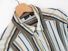 jy2779 Hugo Boss Camisa Top Original Premium rayas casual de algodón talla L