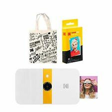 KODAK Smile Instant Print Digital Camera (White/Yellow) Tote Bag Kit