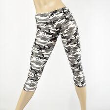 Black White Camo Pants Hot Yoga Camouflage Capri Low Rise Capri SXYFITNESS USA