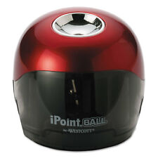 Ipoint Ball Battery Sharpener Red/Black 3w x 3d x 3 1/3h 15570