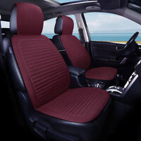 Universal Full Car Seat Mat Cover Auto Breathable Cushion Pad Protector Wine Red