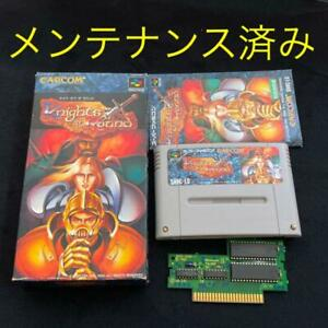 Capcom Knights of the round SFC Nintendo Super Famicom SNES Boxed