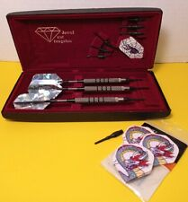 Jewel Cut Tungsten Darts in travel case - 1 set of 3  with extras 1995 used