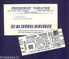 "Walter Winchell ""SHOESTRING REVUE"" Chita Rivera 1955 Opening Night Press Ticket"