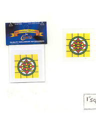 SIMULATED STAIN GLASS #SLIM14 dollhouse miniature door insert 1/12 scale
