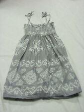 GIRL'S OLD NAVY SUMMER DRESS HEART GRAY & WHITE SIZE M MEDIUM 6/8 WORN ONCE!