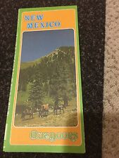 Vintage NEW MEXICO Outdoors Map 1970s Folded State Parks Hunting Fishing EUC USA