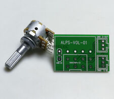 Japan Alps Rk16 Log Stereo Dual-unit 100K Knurled Shaft Volume Potentiometer+Pcb