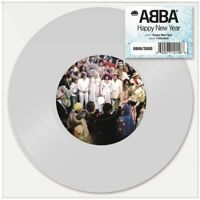 """Abba Happy New Year Limited Edition White 7"""" Vinyl Single Sold Out Rare"""