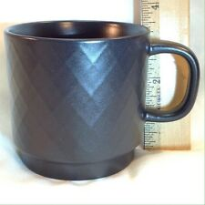 STARBUCKS 2013 Dark Espresso Brown Diamond Pattern 12oz Coffee Mug Stackable