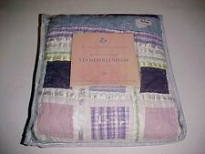 """The Cottage Collection 100% Cotton Quilted Standard Pillow Sham 21"""" x 27"""" New"""