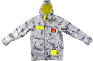 BRAND NEW Technine WORK Snowboard Jacket GRAY CAMO XLARGE LIMITED F17 LIMITED