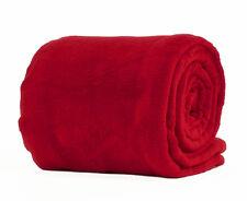 Rojo Tamaño Doble Deluxe Manta Polar Suave Lujo Cálido Hogar Sofá Cama Manta