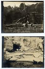 Lot two Rome Zoological garden May13 1911 Animals zoo Gelatin silver ph.5-6 S568