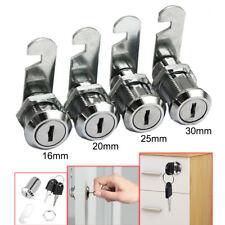 Drawer Cam Lock For Door Cabinet Mailbox Cupboard Toolbox 16202530mm 2keys
