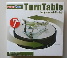 """7"""" ROUND MIRRORED DISPLAY TURNTABLE MODELS BATTERY OPERATE MASTER TOOL TRUMPETER"""