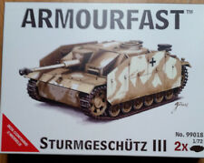 ARMOURFAST Sturmgeschutz lll Tank 1/72 Model Kit x2 Kits (Brand New)