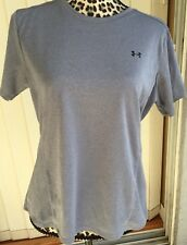 Under Armour Action Short Sleeve Shirt Women's Large Gray (I1434)