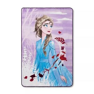 Disney Frozen 2 Plush Bed Throw Blanket Elsa LARGE 62x90 NEW