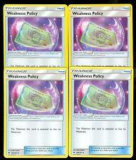 Pokemon WEAKNESS POLICY 126/147 - Burning Shadows - MINT 4X
