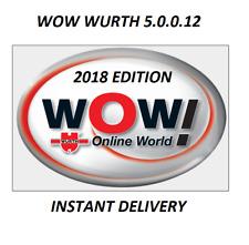 CAR DIAGNOSTIC SOFTWARE - WOW WURTH 5.00.12 - INCLUDES 2018 CARS - OBD/OBD2