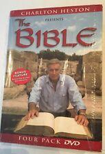 Charlton Heston Presents the Bible (4 DVD, 2001, 4-Disc Box Set Pack)