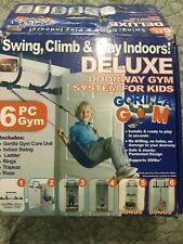 Gorilla Gym Kids/Deluxe Doorway Set with Swing, Rings, Ladder, Trapeze, Rope