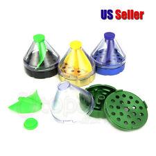 2'' New Cone Shaped Aluminium Alloy Herb Grlnder Dispenser - 1 pc Random Color