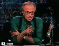 Larry King Hand Signed Autographed 8x10 Photograph Sexy TV Host Live GA 766499