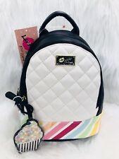 💋Luv Betsey Johnson Lbjaz Mini Rainbow Backpack With Removable Cupcake Charm