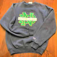 Vintage 90s Crable Sports Blue Notre Dame University Crewneck Sweatshirt, Sz M