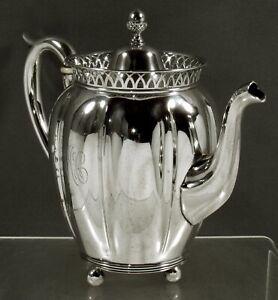 Jenkins & Jenkins Sterling Coffee Pot        c1910