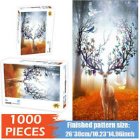 HD Elk Jigsaw Puzzles Adults Kids Educational Toys Hobby Game Mini 1000 Pieces