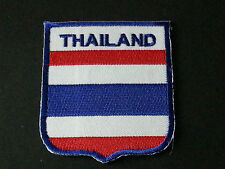 BACKPACKERS NATIONAL COUNTRY SHIELD FLAG SEW/IRON ON PATCH:- THAILAND