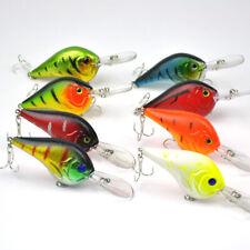 Lots of 8pcs 95mm 11.2g Bass Trout Fishing Hard Lures Crankbaits Hooks Tackles